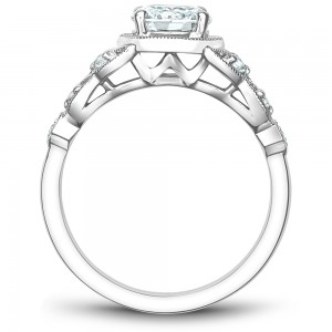Noam Carver White Gold Engagement Ring With 10 Diamonds