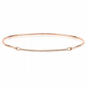 Sterling Silver Diamond Bar Bangle (.40ctw.)