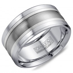 A Torque Ring In White Cobalt, Silver And Titanium.