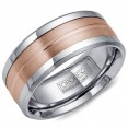 A Torque Ring In White Cobalt With A Rose Gold Inlay.