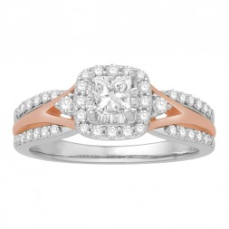Tu-Tone Engagement Ring