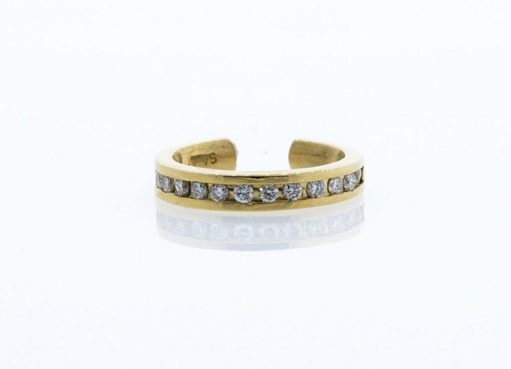 1/8 CTTW DIAMOND CUFF EARRINGS