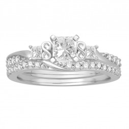 Fancy Princess 3 stone Ring