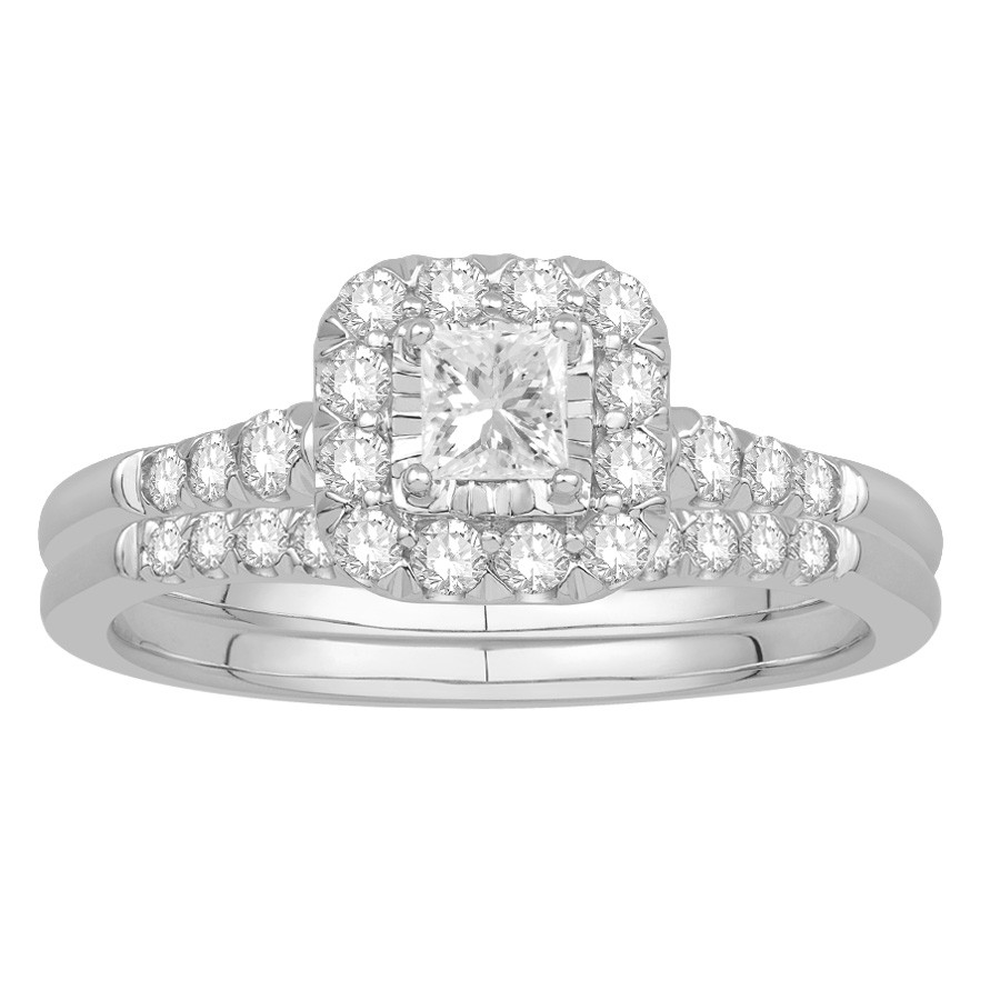 Priness Cut Diamond Wedding Set