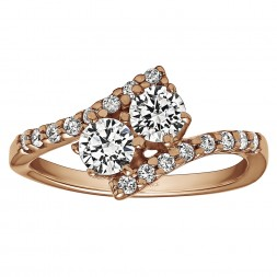 FA223 - Diamond Two Stone Ring