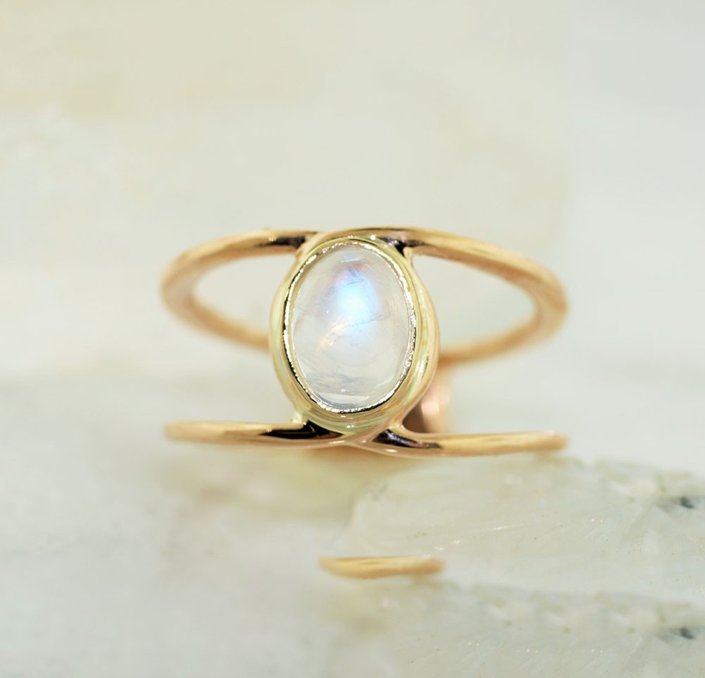 Moonstone Fashion Ring