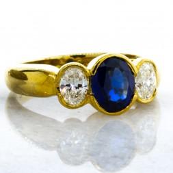 JB STAR Sapphire and Diamond Ring