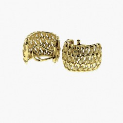 Basketweave Gold Earrings