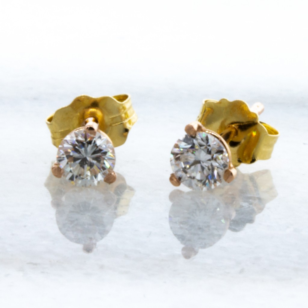 Martini 14kt Yellow Gold Studs (.36ctw.)