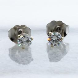 Martini 14 kt white gold  Diamond Studs (.33ctw)