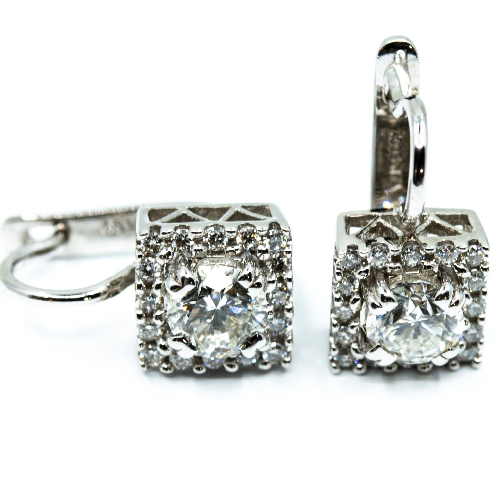 Halo Diamond Studs (1.29ctw)