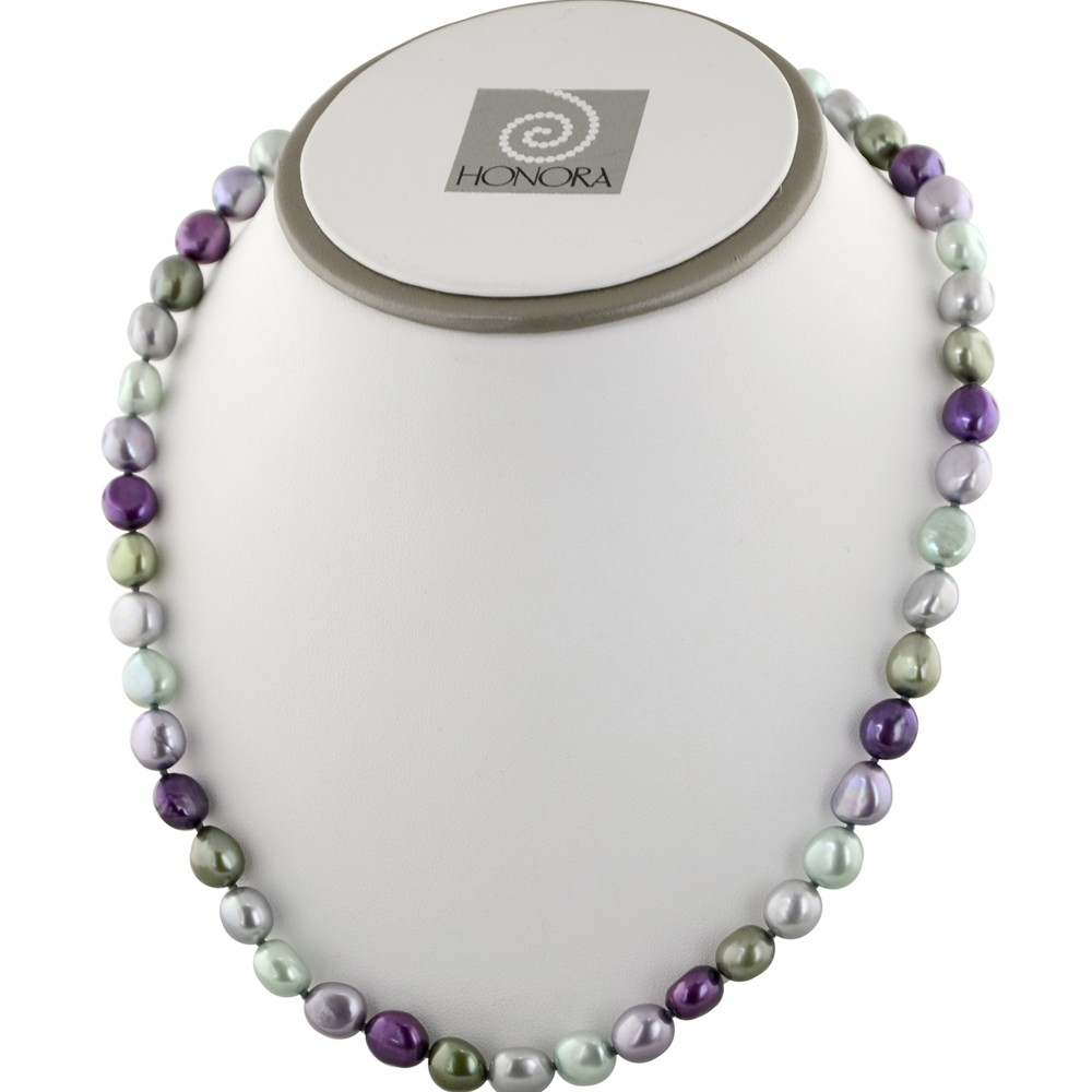 Sterling Silver 8-9mm Grapevine Baroque Fresh Water Cultured Pearl Necklace, 18