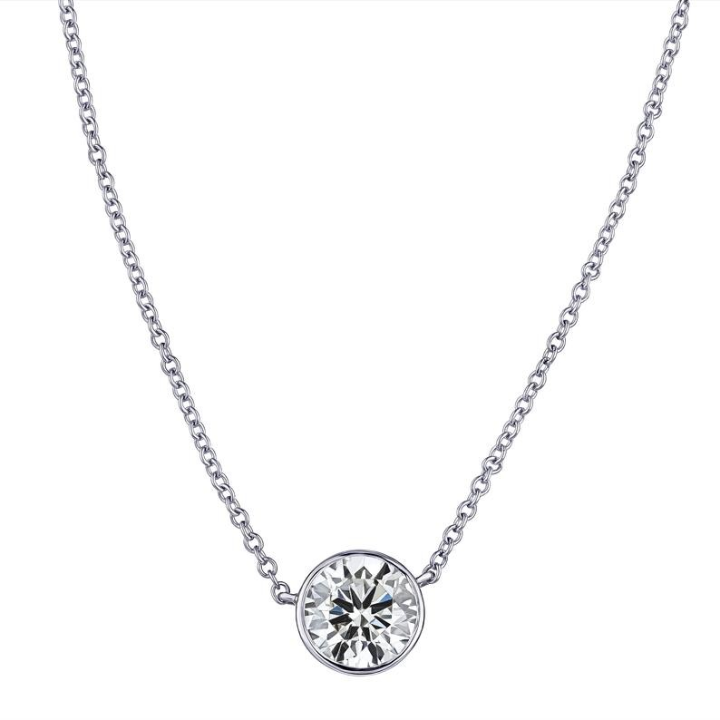 Lab Grown Diamond Bezel Necklace (.10ct)