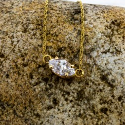 Marquise Solitaire Pendant (.52ct)