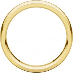 Men's 10K Yellow 6 mm Comfort-Fit Edge Band