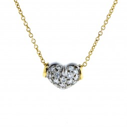 Diamond Pave' 14 Yellow Gold Necklace (.50ctw)