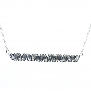 Baguette Diamond Bar Necklace (.98ctw)