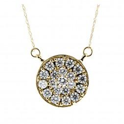 Round Diamond Pave' Pendant (1.25ctw.)