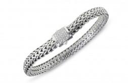 John Hardy Classic Chain Braided Diamond Bracelet