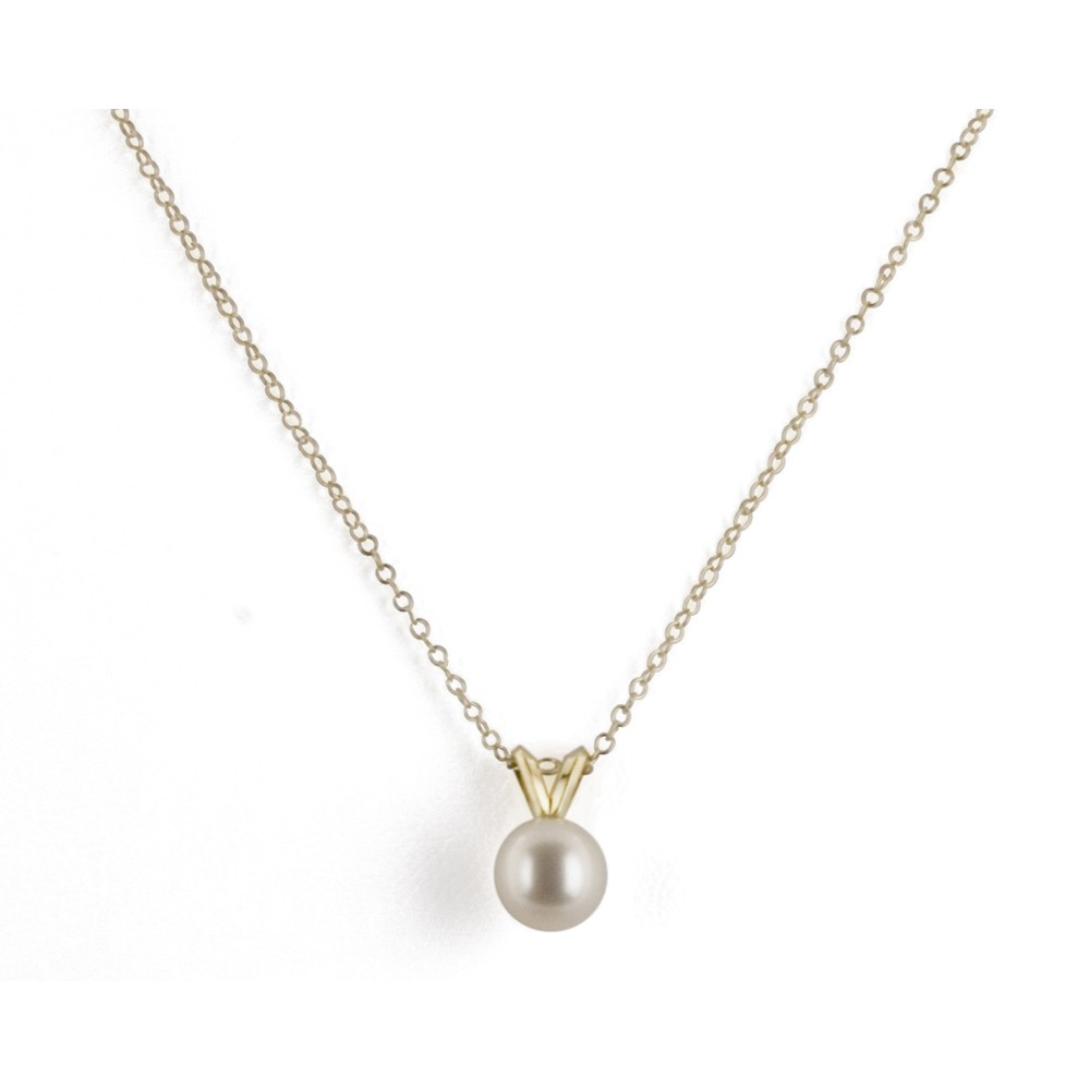 14K 7+MM White Freshwater Cultured Pearl 16
