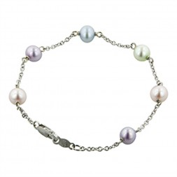 Sterling Silver 5.5-6MM Potato Candy Collection Freshwater Cultured Pearl 6