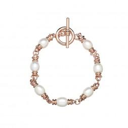 Bronze 8-8.5MM Oval Freshwater Cultured Pearl Toggle Bracelet