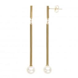 14K YG 7-8MM FWCP Earrings