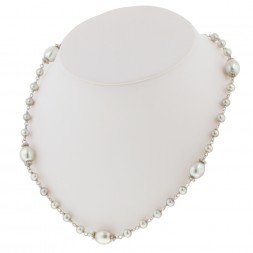 Sterling Silver 4.5-9MM White Freshwater Cultured Pearl 18