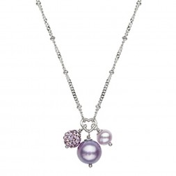 Sterling Silver Lilac 4.5-9MM Potato FWCP and Crystal NK 14