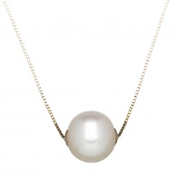 14kyg 8.5-9mm Round Freshwater Cultured Pearl Slide on 18