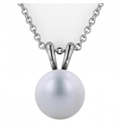 Sterling Silver 10-10.5MM White Freshwater Cultured Pearl Pendant