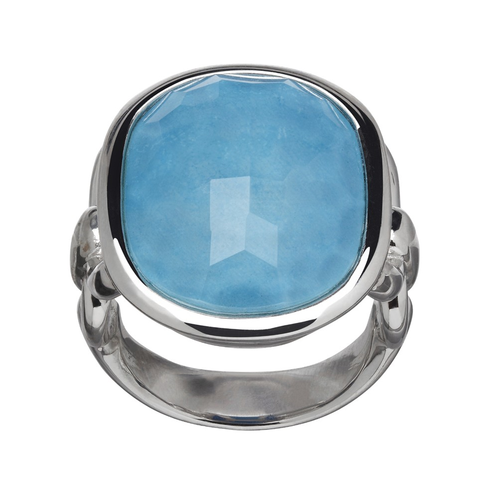 Sterling Silver Turquoise Doublet Ring
