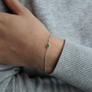 Bezel Birthstone Bracelet