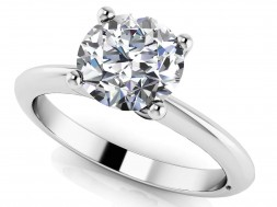 Timeless Four Prong Solitaire
