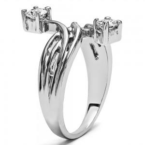 FA217 - Diamond Two Stone Ring