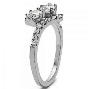 FA220 - Diamond Two Stone Ring