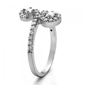 FA226 - Diamond Two Stone Ring