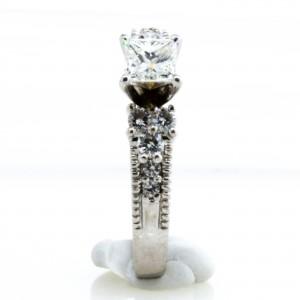 Milgrain Princess Cut Diamond RIng (.58ctw.)