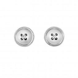 Silver Button Cufflinks