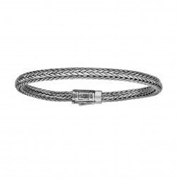 Silver Woven Childrens Size  Bracelet With Box Clasp