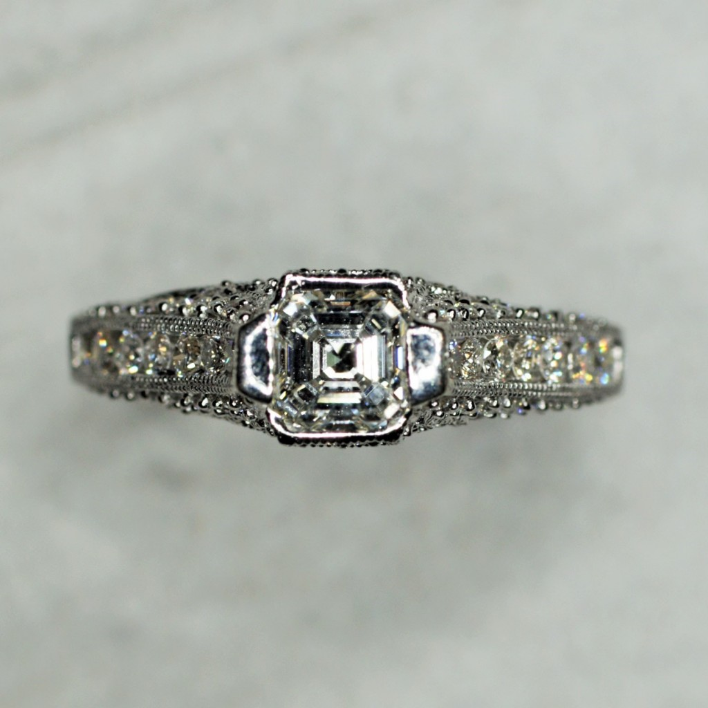 Asscher Diamond Engagement Ring (1.32ctw.)