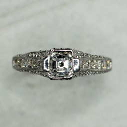 Asscher Diamond Engagement Ring (1.32ctw.)