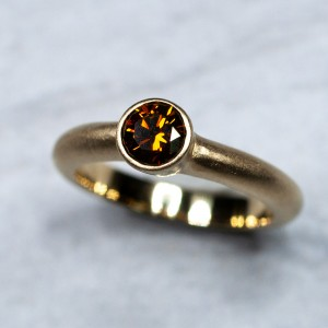 14kt Yellow Gold Cognac Diamond Ring