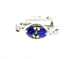 Sapphire and Diamond Two Stone Ring