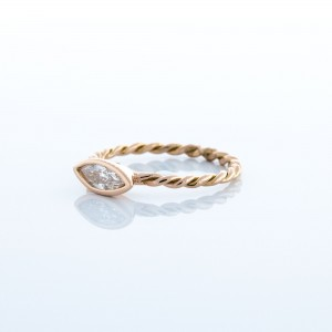 Twisted Band Marquise Diamond Ring (.32ct)