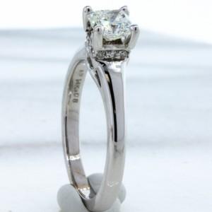 Diamond Princess Cut Solitaire (.70ct)