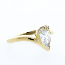 Artisan Suberi  Pear Diamond Accent Ring 14kt Yellow