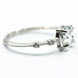 Vintage Rose Cut Moissanite Diamond Ring(1.16ct)