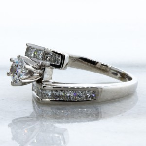Princess and Round Diamond Ring(1.15ctw.)