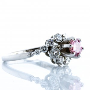 Pink and White Diamond Ring (1.50ctw)
